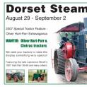 HTN 194 - Dorset Steam Fair August 29 - September 2 2007 - 40th anniversary - Tractors wanted!