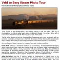Veld to Berg Steam Photo Tour