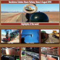 Sandstone Estates Steam Railway News 8 Aug 2016