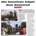 HTN 184 - Old American Edgar saw restored