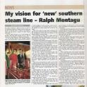My vision for new southern steam line - Ralph Montagu
