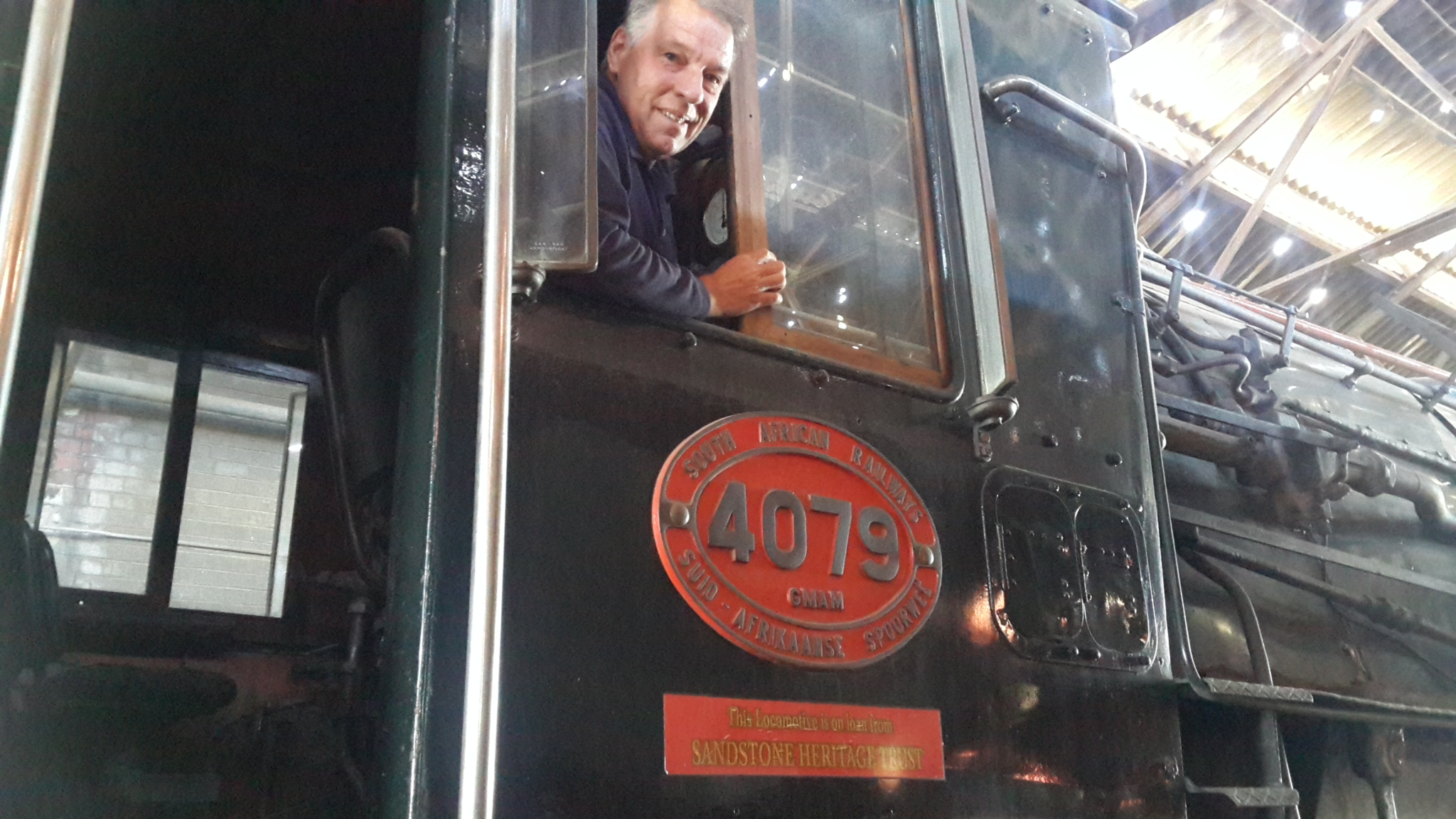 At Reefsteamers Andreas in the cab of 4079