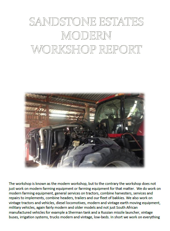Modern workshop report image
