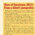 Stars of Sandstone 2013: From a driver's perspective