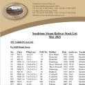 The Sandstone Steam Railway Stock List